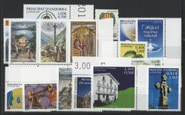 ANDORRE FRANCAIS 2001 ANNEE COMPLETE COTE 44.1 € N° 540 à 554 NEUFS ** (MNH). Vendue Sous La Valeur Faciale (-27%). TB - Unused Stamps