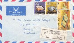 ST. VINCENT - REGISTERED MAIL 1976 TROUMACA > JERSEY / QG57 - St.Vincent (...-1979)