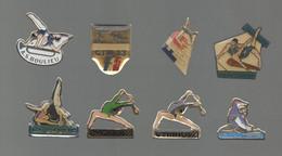 PINS PIN'S SPORTS 841 GYMNASTIQUE GYM GYMNOVA FEDERATION FFG FAC FRONTIGNAN LA BAUME MIRAMAS BOULIEU LOT 8 PINS - Ginnastica