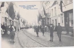 Vilvoorde - Aankomst Eerste Tram In De Leuvense Straat (gelopen En Geanimeerde Kaart Zonder Zegel) - Vilvoorde