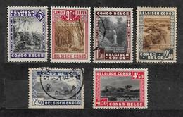 Congo Belge - Propagande Pour La Série Des Parcs Nationaux Y&T N°  197#202 Obl Neuf* LOT N° C225 - Otros