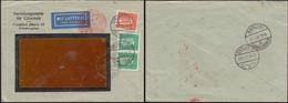 Germany - Airmail, LUFTPOST Brief, Frankfurt 23.11.1932 - Berlin. Mi. 411, 466 MiF. - Covers & Documents