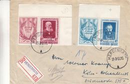 Belgique - Lettre Recom De 1953 - Oblit Hergenrath - Exp Vers Köln - Avec Dyptique - Très Rare - - Cartas