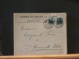 B5344A   LETTRE AVEC ENTETE BRAINE LE COMTE    CENSURE BRUSSEL   1915 - Other Covers