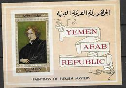 Yemen Sheet Mnh ** 10 Euros 1967 Van Dyck Painting - Yemen