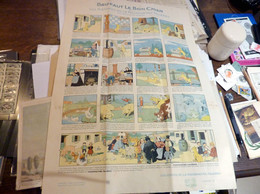 LES CONTES DE LA PHOSPHATINE FALIERES N° 3 - BENJAMIN RABIER - BRIFFAUT LE BON CHIEN, 55 X 39 Cm - Afiches