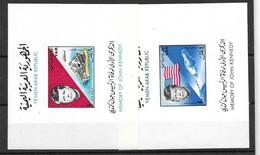 Yemen Two Space And Kennedy Sheets Mnh ** 15 Euros 1965 - Yemen