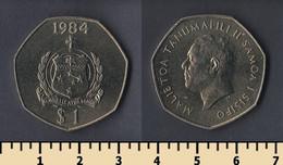 Samoa 1 Tala 1984 - American Samoa