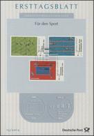 ETB 15/2012 Für Den Sport, Fussball, Schwimmen, Tischtennis, Olympische Spiele - FDC: Covers