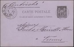 Frankreich Postkarte P 7 Handel Und Frieden ST. PIERRE 2.3.1881 Nach WIEN 4.3.81 - Non Classés