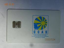 CARTE A PUCE CHIP CARD  CARTE FIDÉLITÉ CCAS INDUSTRIES ELECTRIQUE ET GAZIÈRE - Cartes De Fidélité Et Cadeau