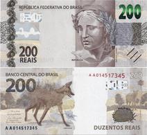 BRAZIL        200 Reais        P-New        2020        UNC - Brazil