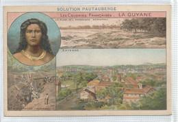Cromo Format Cpa - La Guyane Exploitation Aurifère Plage Cayenne  Solution Pautauberge - Non Classificati