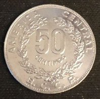 COSTA RICA - 50 CENTIMOS 1983 - KM 209.1 - Grands Bateaux, Lettres En Creux - Costa Rica