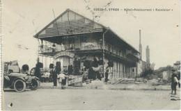 608/20-1. YPRES : Hôtel Restaurant Excelsior - CPA PEU COURANTE - Cachet De La Poste 1925 - Ieper