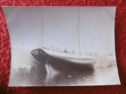 GROIX BATEAU DE PECHE A QUAI PHOTO 7.8 X 5.8 Cm - Boats