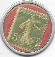 *monnaie De Necessite Paris Credit Lyonnais  1920 Timbre 5 Centimes - Monetari / Di Necessità