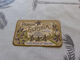 124 , Carte Parfumée, PARFUM GLYCINIA , Vachon Pavoux, Paris-Lyon - Vintage (until 1960)