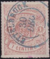 Luxembourg   .  Y&T    .   16  .  Point Clair     .    O     .   Oblitéré   .   /   .    Gestempelt - 1859-1880 Armoiries