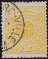Luxembourg   .  Y&T    .   41   .   11½x12   .    O     .   Oblitéré   .   /   .    Gestempelt - 1859-1880 Wapenschild