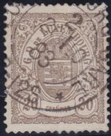 Luxembourg   .  Y&T    .   44   .   13½      .    O     .   Oblitéré   .   /   .    Gestempelt - 1859-1880 Wapenschild