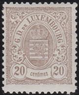 Luxembourg  .  Y&T   .  44   .  11½x12   (2 Scans)   .   *  .   Neuf Avec Gomme   .   /   .    Ungebraucht Mit Gummi - 1859-1880 Wapenschild