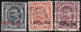 Luxembourg   .  Y&T    .  86/88         .    O     .   Oblitéré   .   /   .    Gestempelt - 1906 Guillermo IV