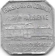 Monnaie De Necessite Paris  25 Centimes 1921 Tramways (5) - Monetari / Di Necessità
