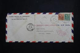 """ETATS UNIS - Griffe """" Acheminement Autorisé Par Les Autorités Allemandes """" Sur Enveloppe De New York En 1940 - L 100603 - Covers & Documents"""