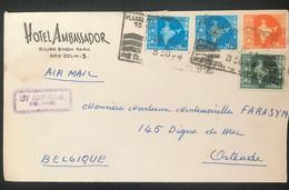 India 1958 De New Delhi Vers Ostende (Belgique) - Covers & Documents