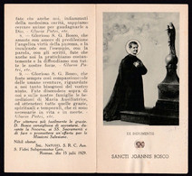 Santino Con Reliquia/holy Card With Relic: S. GIOVANNI BOSCO - E - A - Mm. 65 X 120 - Religione & Esoterismo