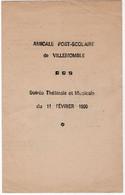 VILLEMOMBLE (93) PROGRAMME. AMICALE POST-SCOLAIRE DE VILLEMOMBLE. SOIREE THEATRALE Et MUSICALE. 1950. - Programmes