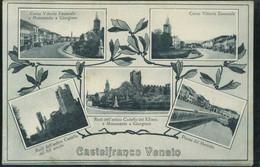 Castelfranco Veneto Corso Vittorio Emanuele Piazza Del Mercato Monumento A Giorgione Augusto Marin - Other Cities