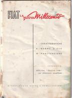 Libretto Manutenzione - Fiat 1100 (come Da Scansione) - Altri