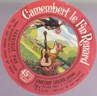 ÉTIQUETTE DE FROMAGE -  CAMEMBERT -LE FN RENARD - Cheese