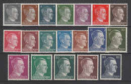 GERMANY REICH WWII 1941 Mi 781-798 MNH ** FULL SET Hitler - Unused Stamps