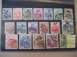 Österreich 1934/36- Freimarken Österreichische Volkstrachten, MiNr. 567-583 Und 585 Gebraucht - Gebruikt
