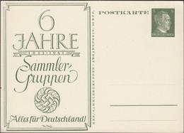 Germany - Privat Stationery Card / 5 Pf. GA-Postkarte, 6 Jahre KdF Sammler Gruppen 1935 - 1941 Alles Für Deutschland. - Stamped Stationery
