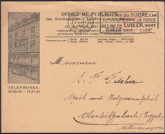 Belgium - 1.75 F. Porto Illustrated Stationery Cover, OFFICE DE PUBLICITE. BRUXELLE 8.6.1933 - Oberseiffenbach. - Enveloppes-lettres