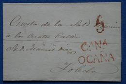 V23 ESPAGNE BELLE LETTRE 1862 CASTILLA NUEVA  OCANA A TOLEDO +   AFFRANCH. PLAISANT - ...-1850 Préphilatélie