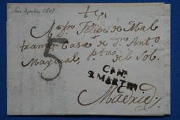 V23 ESPAGNE BELLE LETTRE 1862 CASTILLA NUEVA ST MARTIN  A MADRID +   AFFRANCH. PLAISANT - ...-1850 Préphilatélie