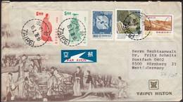 China - Air Mail Cover, TAIPEI HILTON, Taipei 16.1.1976 - Nürnberg, Germany. - Lettres & Documents