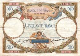 FRANCE : 50 FRANCS LUC OLIVIER MERSON Du 04/01/1934  / TBE - 50 F 1927-1934 ''Luc Olivier Merson''
