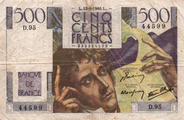 500 Francs CHATEAUBRIAND 1946 / 12/09/1946 - 500 F 1945-1953 ''Chateaubriand''