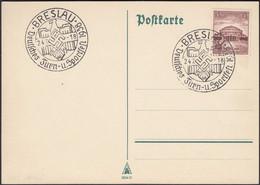 Germany - Postkarte (Mi. 668 EF) Sonderstempel, BRESLAU (now Wrocław, Poland) Deutsche Turn U. Sportfest 24.7.1938. - Covers