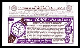 N°1011-C20 **Série 6-55, HORLOGERIE DU DOUBS Et EU. TB - Usage Courant