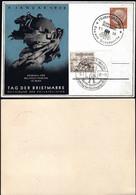 Germany - Privat Ganzsache, Mi.PP 122C (Blue) 'Tag Der Briefmarke - Weltpostvereins In BERN'. Stuttgart 9.1.1938. - Stamped Stationery