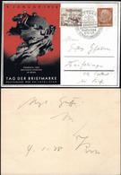 Germany - Privat Ganzsache, Mi.PP 122C (Red) 'Tag Der Briefmarke - Weltpostvereins In BERN'. Stuttgart 16.1.1938. - Stamped Stationery