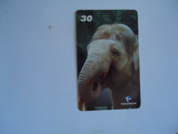 BRAZIL USED CARDS ANIMALS ELEPHANT - Giungla