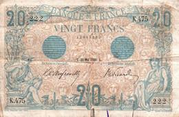 20 Francs Bleu Du 21/05/1906 / RARE + - 20 F 1905-1913 ''Bleu''